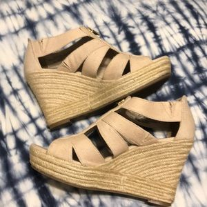 Front Zip Espadrile Wedge